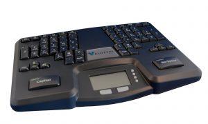 clavier Vélotype, utilisé pour la transcription simultanée réalisée avec la technique de la vélotypie