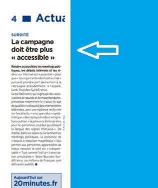10% De La Population Française écartée De La Campagne Présidentielle Pour Cause De Surdité… Des Candidats !