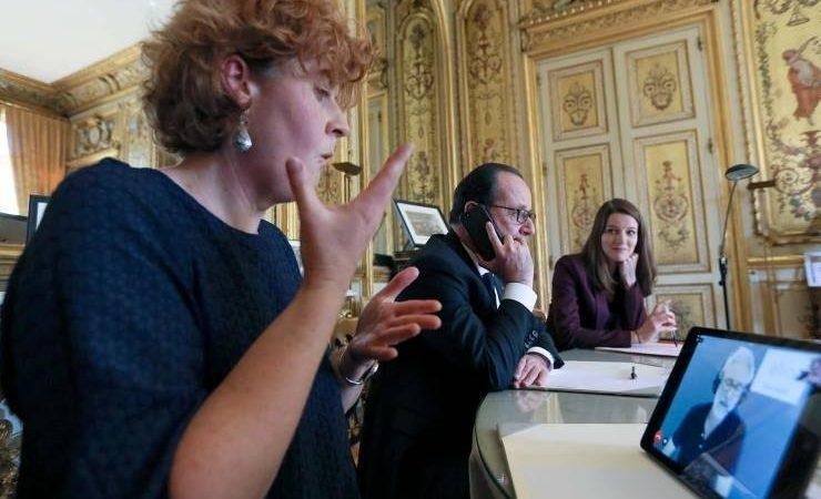 François Hollande Teste Elioz, Notre Solution De Relais Téléphonique Pour Toutes Les Personnes En Difficulté Professionnelle Avec La Communication.