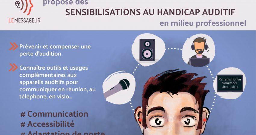 Les Sensibilisations Au Handicap Auditif En Milieu Professionnel Du Messageur