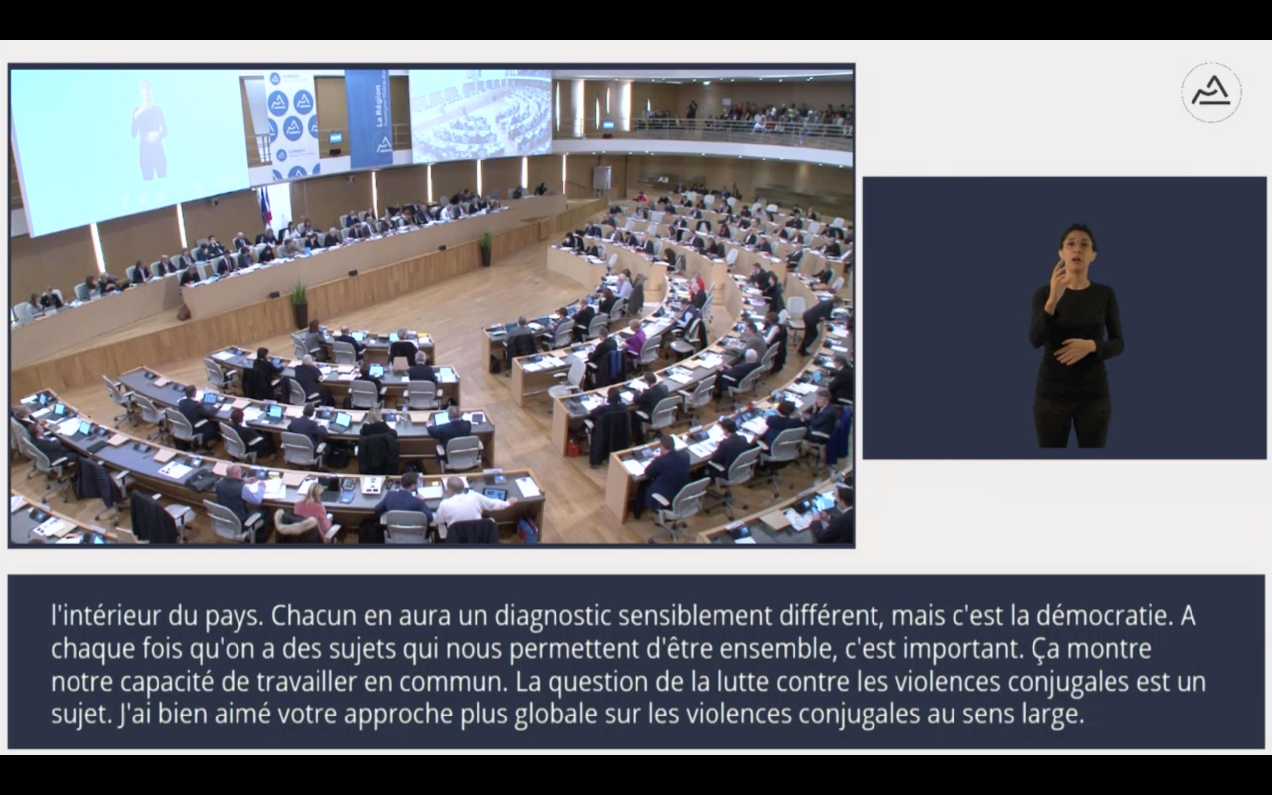 Sous-titrage Des Plénières Du Conseil Régional Auvergne-Rhône-Alpes