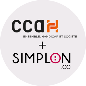 Les logos de nos partenaires CCAH et Simplon.co