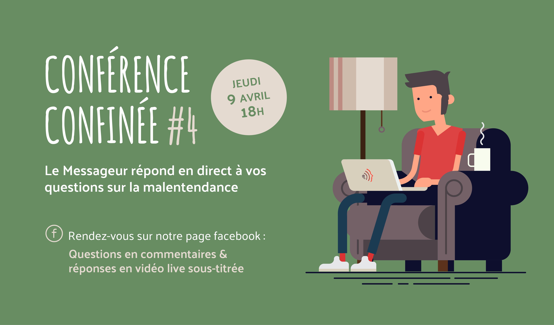 Conférence confinée - Le Messageur - Pour parler d'audition, de malentendance, de surdité, d'accessibilité et de connectivité pendant la période de confinement