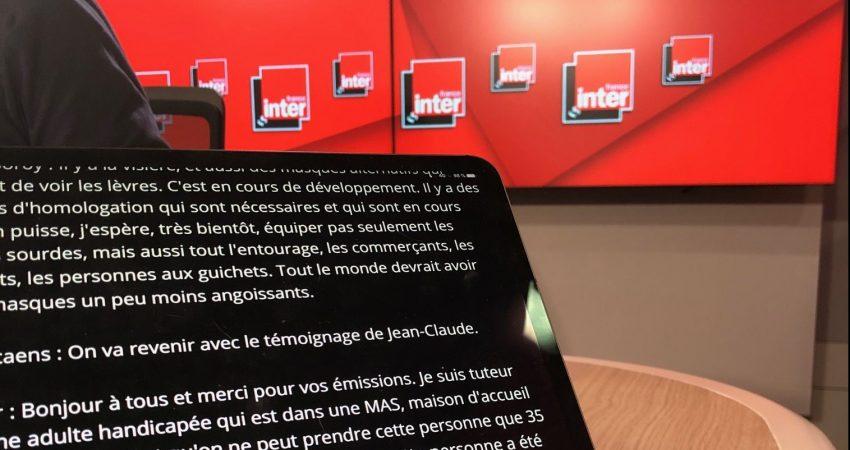 Sous-titrage En Temps Réel Lors D'une Intervention De Jérémie Boroy, Président Du CNCPH à L'émission Le Grand Rendez-vous Sur France InterFrance
