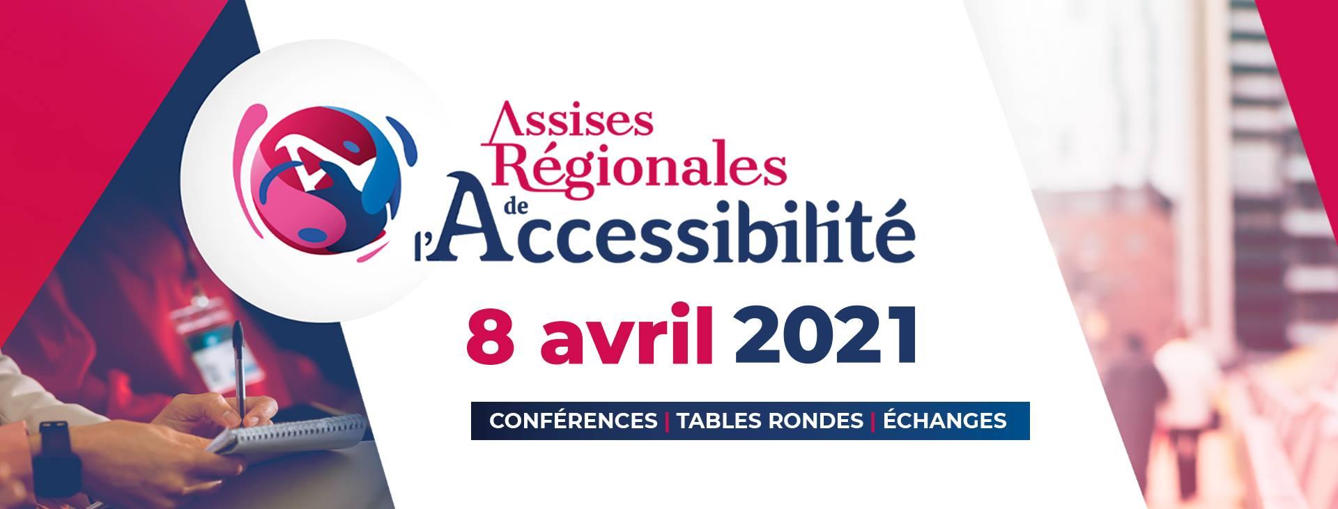 Visuel des Assises Régionales de l'Accessibilité qui se tiendront le 8 avril 2021 à Rennes