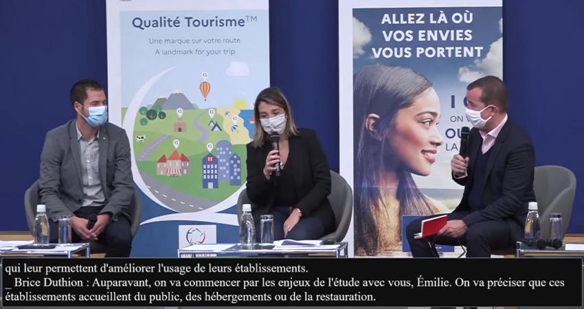 """Colloque """"Destination France : accueil et satisfaction des clientèles touristiques », sous-titré par Le Messageur"""
