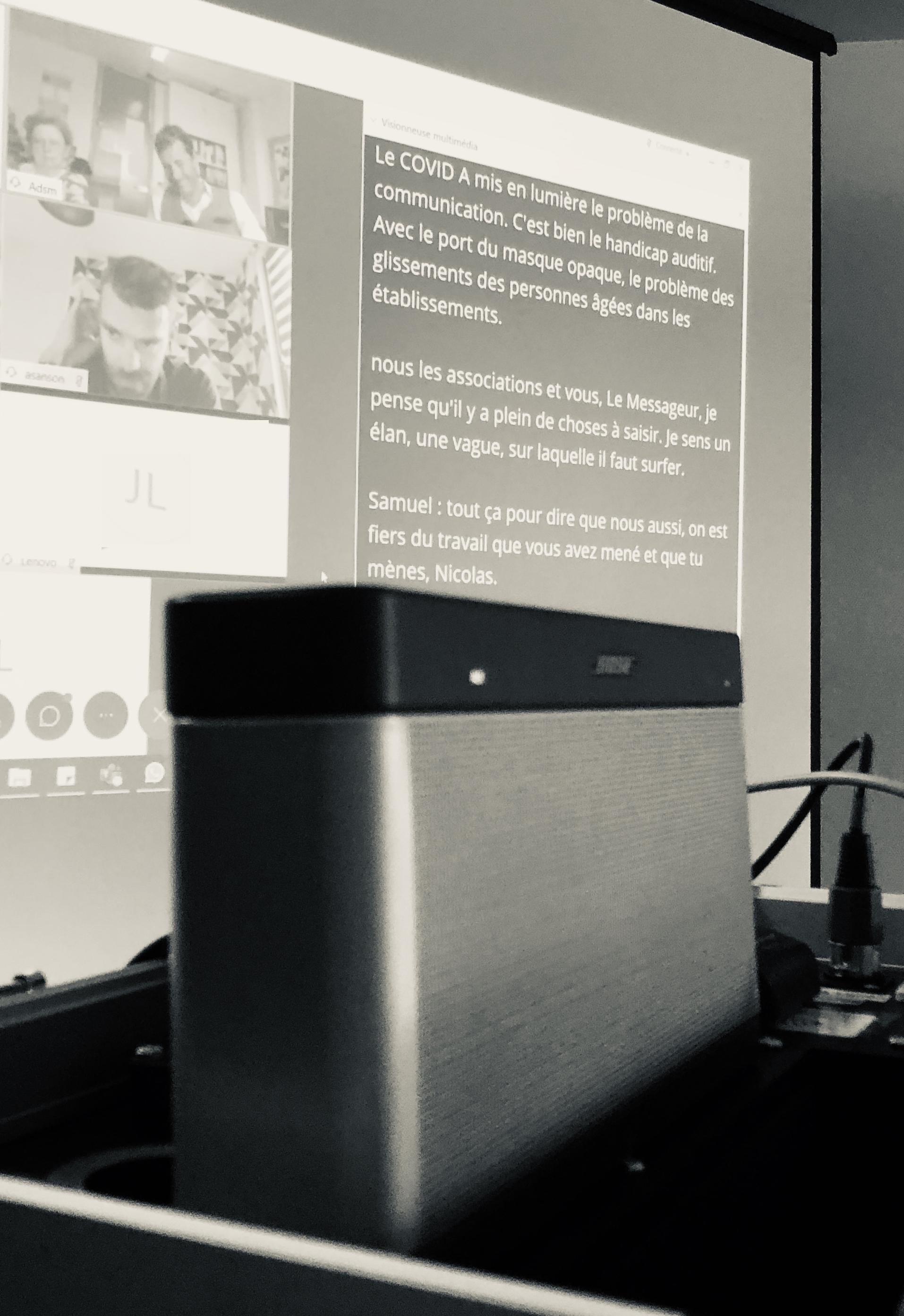 Valise Diluz, sono mobile utilisée pour les réunions qui mixent présentiel et distanciel