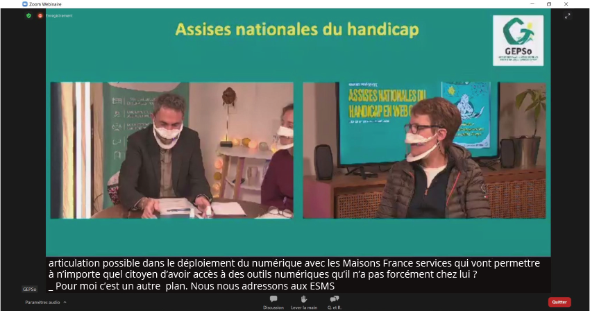 Sous titrage du web colloque 100% digital de Gepso
