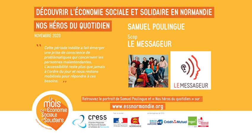 """""""Nos héros du quotidien"""" : portraits d'acteurs de l'économie sociale et solidaire publiés par la CRESS Normandie - L'équipe de la Scop Le Messageur à l'honneur"""