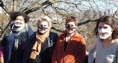 Muriel, Nathalie, Gaëlle Et Florie Sur La Terrasse De La Maison Des Scop à Rennes Pour Une Rencontre Entre Elioz Et Le Messageur