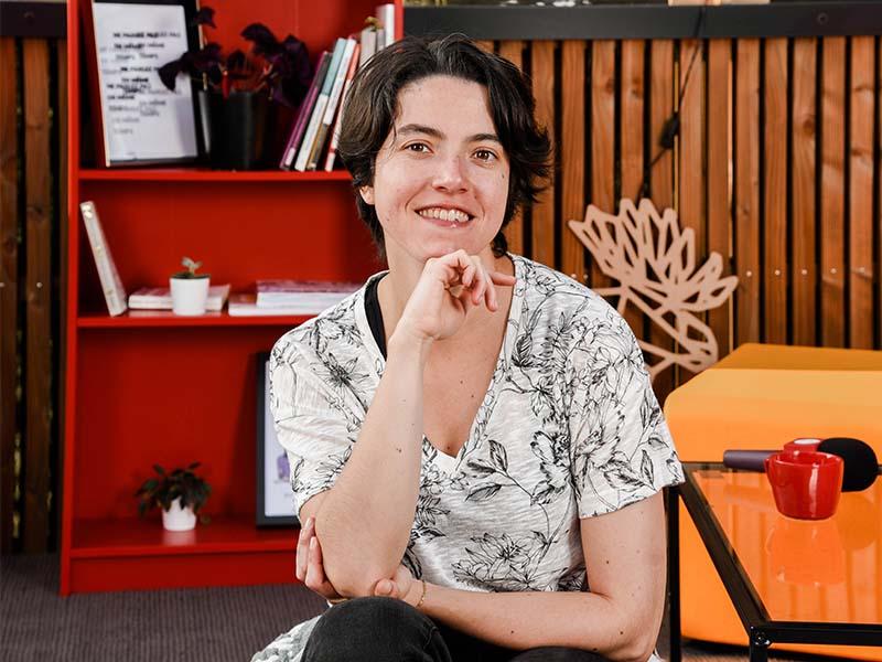 Lucie AMIEUX, interprète de l'écrit, référente amélioration continue au Messageur