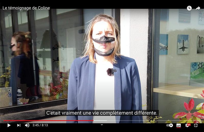 Image extraite de la vidéo de témoignage de Coline
